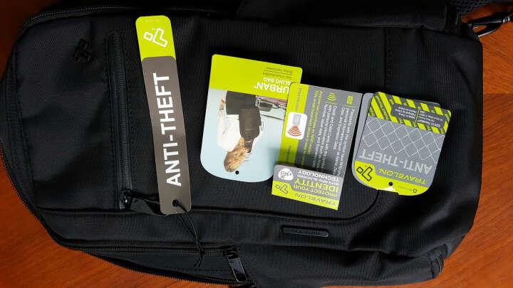 TRAVELON 运动户外旅行 中性聚酯材质防切割胸包 防盗刷信息旅行包 黑色43103-500 晒单图