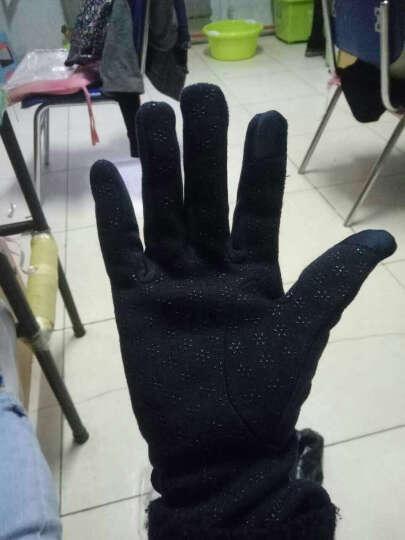 外滩故事触摸屏电容屏触摸 保暖时尚不倒毛手套女冬季新款 Ma-31藏青 晒单图
