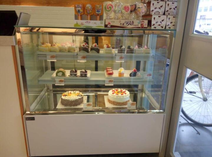 乐创(lecon)商用蛋糕柜冷柜冷藏保鲜柜台式除雾玻璃陈列柜水果饮料寿司熟食柜面包展示柜 白色直角风冷带防雾 后开门1.2米*0.67*1.18(落地式) 晒单图