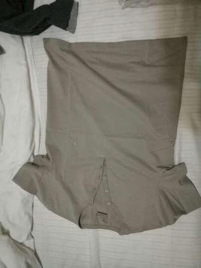 佐丹奴t恤 男装夏季纯棉男体恤 时尚男士亨利领纯色T恤衫01024085 94维多利亚蓝色 中码(170/96A) 晒单图