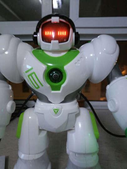 盈佳(AMWELL) 盈佳智能遥控机器人机械战警发射对战跳舞编程讲故事新威尔小白5088 黑色-大型35cm机械战警 晒单图