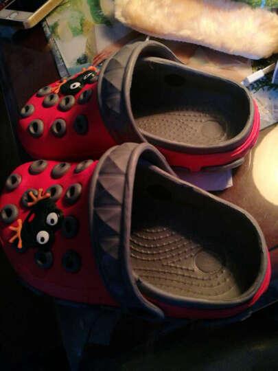 康雷克(KEIK) 儿童拖鞋男童新款卡通洞洞鞋女童花园鞋软底防滑中小童凉拖鞋沙滩鞋宝宝 深蓝浅蓝 37(22.7cm) 晒单图