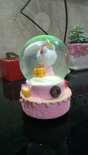 水晶球音乐盒生日礼物送女友情人节礼物送女友 心形水晶球 创意礼物 晒单图