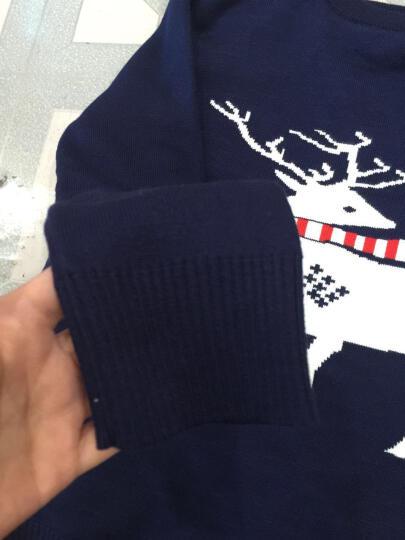 童装女童男童毛衣秋冬装加绒加厚上衣儿童打底衫内搭线衣毛线衫 红色 150(适合130-140cm) 晒单图