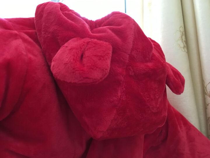 艾娜骑士 婴儿衣服连体衣宝宝爬服外出服棉衣棉服加厚 大红鼠小弟 0-6个月 晒单图