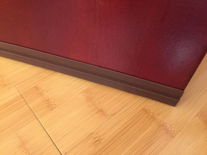 格奥德 硅橡胶3M门底密封条门缝门窗隔音条玻璃贴自粘型窗户保温防盗门木门防风条门底 棕色/米 35 晒单图