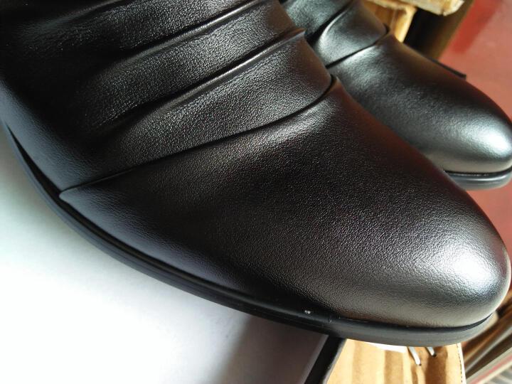 蒂雅尼奥2016新款韩版正装鞋 男士休闲皮鞋商务休闲鞋尖头内增高皮鞋潮男棉鞋288 棕色内增高 38 晒单图