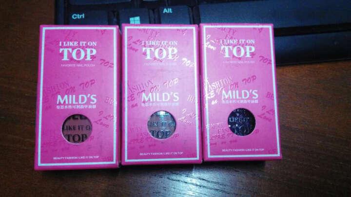 曼思(MILD'S)台湾进口无味 环保 孕妇可用 水性可剥指甲油胶 12ml(金属银)(美甲) 晒单图