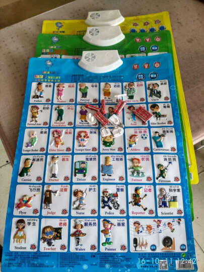 乐乐鱼(leleyu) 有声挂图识字卡益智启智启蒙拼音早教机点读故事机小孩婴幼儿儿童玩具 3张(英文+交通+双模式) 晒单图