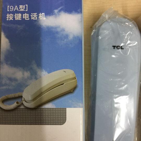 TCL 9A电话机座机 有绳电话固定座机小挂机电梯卫生间厨房一键拨号座式可壁挂酒店家用 冰蓝色 晒单图