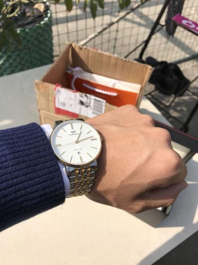 陀翡利迩(TOPHILL) 拓非手表 男瑞士品牌钢带超薄日历防水男士休闲商务机械品质钟表 全钢白面 晒单图