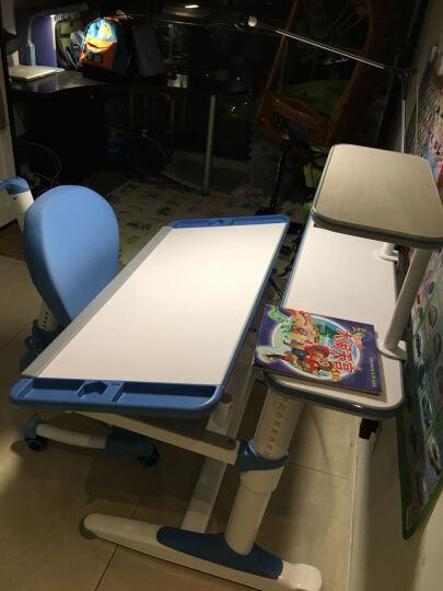 智学库 儿童学习桌椅可升降学习儿童书桌 多功能学生写字桌课桌组合套装 105CM ZZ-105+ZY-01健康绿 晒单图