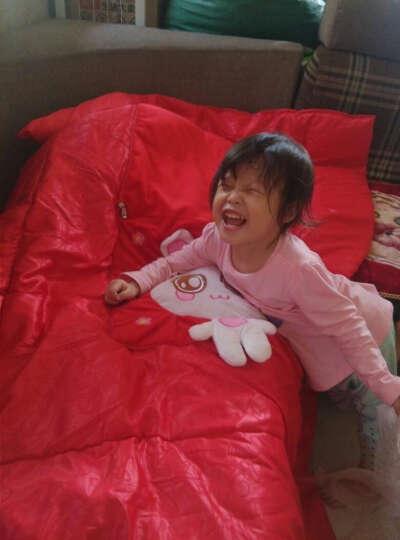欧莱缦 抱枕被 抱枕被子两用加厚抱枕靠垫办公室多功能靠枕被公仔 马上有房粉色 展开105*145cm 晒单图