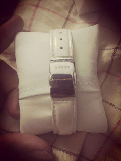 【联保服务】卡西欧(CASIO)大表盘手表女士指针夜光石英三眼时尚镶钻休闲女生腕表 SHN-3012D-7A 晒单图