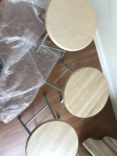 阿栗坞 椅子 木面钢折椅(2个入) 椅子 休闲椅 钢折椅 阳台椅 3D木纹色 2047 晒单图