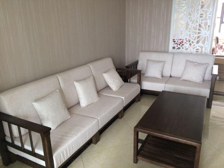 全实木沙发橡木简约现代单人双人三人位转角