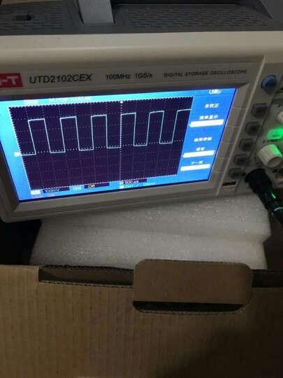优利德(UNI-T)UTD2102CEX示波器带USB接口大屏二通道100M储存数字示波器 UTD2102CEX 晒单图