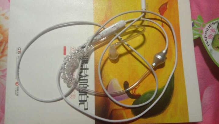 品怡  单耳炫酷带麦特工式真空螺旋弹簧伸缩耳机 线控通话音乐手机耳机  加强版 白色 晒单图