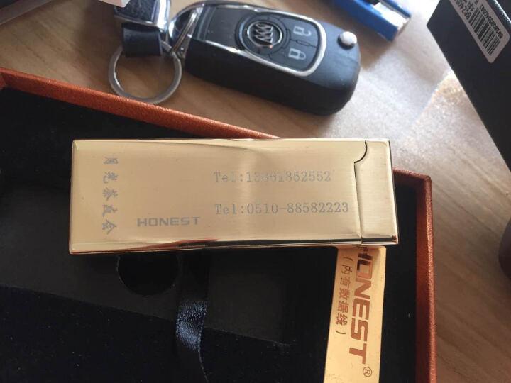honest百诚电弧打火机USB充电打火机防风金属脉冲摇动感应创意个性电子点烟器情人节表白礼物 皱纹黑(电弧) 晒单图