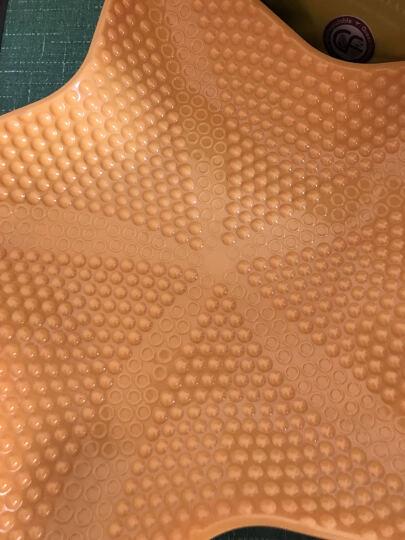 欧凯斯(OKISS) 欧凯斯时尚炫彩五角海星多用水果盘果盆创意塑料盘干果盘零食盘 白色 晒单图