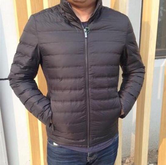 卡帝乐鳄鱼 CARTELO 羽绒服男双面穿轻薄修身保暖中长款男士羽绒服 16002KE1638 黑色 2XL 晒单图