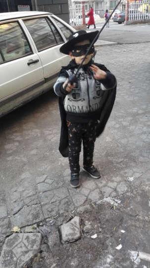 万圣节儿童披风 化妆舞会服装 巫师服饰 斗篷 佐罗 牛仔披风套装 1.2米全黑披风+佐罗帽+眼罩 晒单图