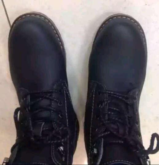莫尼森新款男士休闲鞋男鞋子真皮大码低帮工装鞋大头皮鞋英伦马丁鞋潮鞋 黄色. 41 晒单图