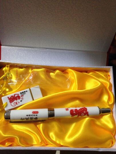 青花瓷创意礼品 陶瓷签字笔钢笔+8gu盘套装中国风 商务礼品定制 猴子陶瓷笔+U盘8G+礼盒 晒单图