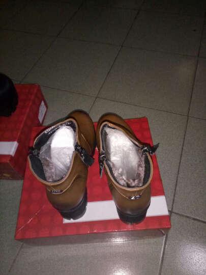瑞蓓妮秋季新款女靴英伦马丁靴防水台圆头粗跟短靴侧拉链休闲女鞋子高跟低筒靴 黑色加绒款 38 晒单图