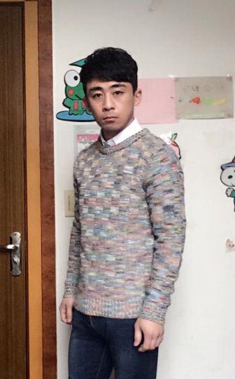 宾克莱针织衫男2017秋冬季男士修身高领套头毛衣男韩版 黑色 2XL 晒单图