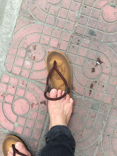 风云狼 新款拖鞋男防滑休闲凉拖鞋夏季夹趾人字拖 L49咖啡女 37运动鞋码 晒单图