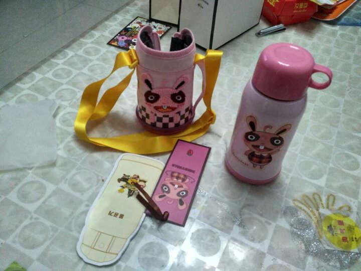 杯具熊(beddybear) 儿童保温杯带吸管直饮两用儿童水杯保温儿童水壶600ml 升级款-粉色兔子 晒单图