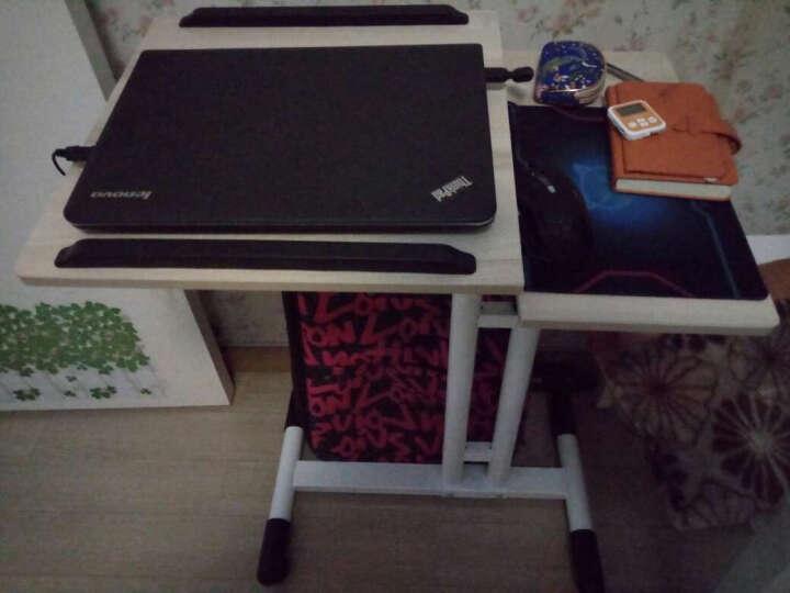 良凡移动电脑桌家用升降床边桌移动工作台简约现代笔记本桌子 枫木色+带风扇 组装 晒单图
