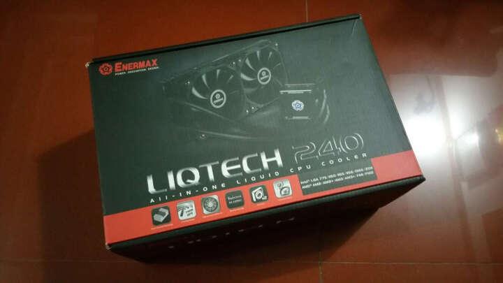 安耐美 多平台CPU水冷散热器陶瓷轴承/LED状态灯/FEP水管ELC-LT240-HP版 晒单图