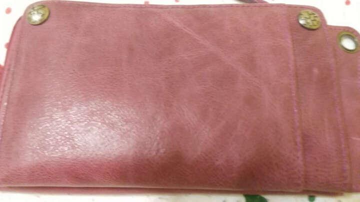 BROWNEFOX女士钱包牛皮长款手拿包情侣款多功能韩版潮流卡包手机包 BF-NB6039 9806古铜金 晒单图