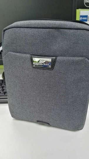 卡尼路carneyroad新款男包单肩斜挎包时尚棉麻功能包灰色CR690 晒单图