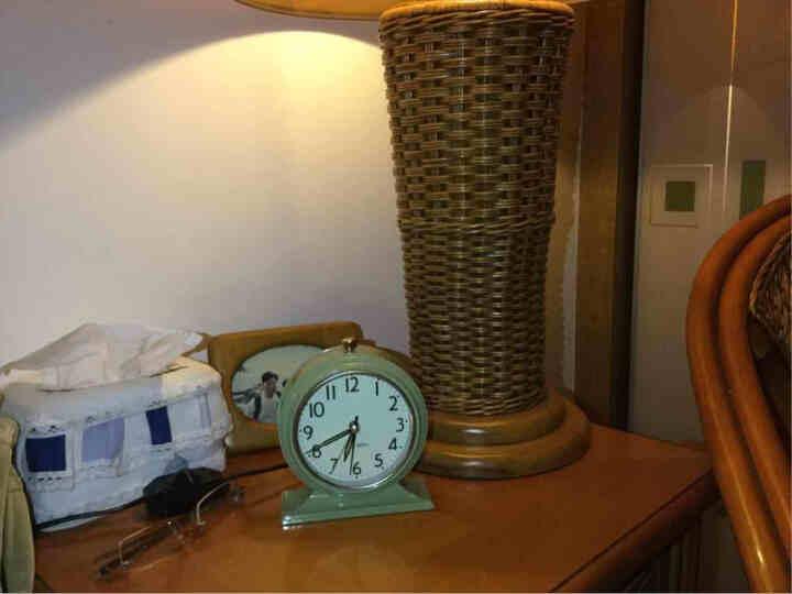 北欧国度 NOMO 北欧气质款 美式乡村安德鲁静音钟表座钟-平底 闹钟桌面钟台钟 绿色款 晒单图