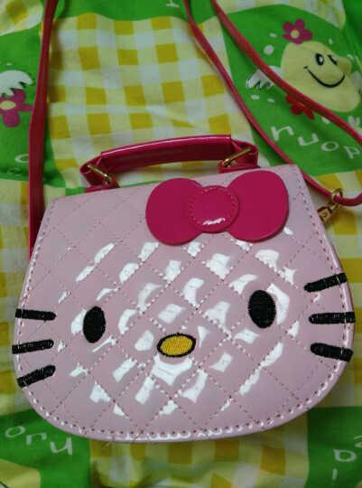 北狐 幼儿园背包卡通猫咪儿童单肩包 时尚少女儿童亲子背包 Kitty猫斜挎包 金色 晒单图