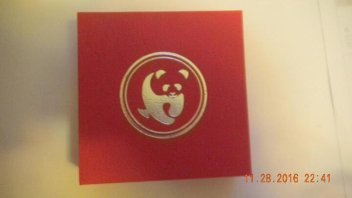 河南中钱 中国金币 2017年30克熊猫银币 30克银猫+红盒 晒单图