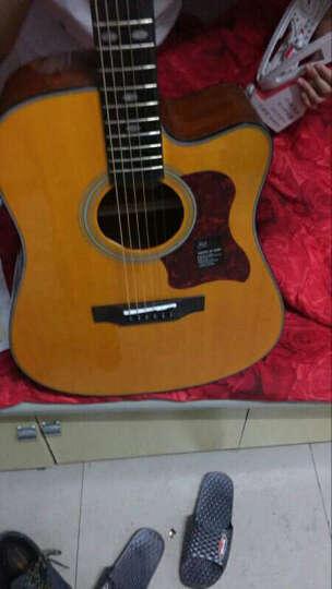 盛听(ShengTing) 曼泰(MANTIC) 曼泰吉他 民谣吉他新手初学40寸41寸jita吉他 AG-370CE原木色缺角电箱款 41寸 晒单图
