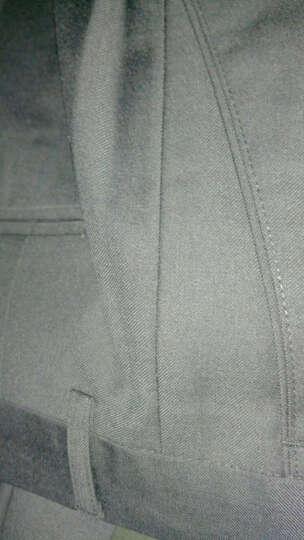 【抗皱免烫】昂柏西裤男春夏款修身商务休闲韩版黑色正装职业装工装男士西装裤 藏青四季款 34码 晒单图
