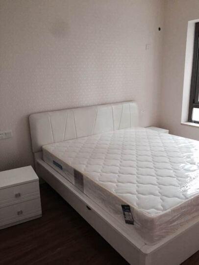 双虎家私 简约现代板式床 1.5/1.8米双人床 烤漆卧室家具组合B2 低箱床+床头柜*2+B002四门衣柜+舒梦床垫 1800mm*2000mm 晒单图