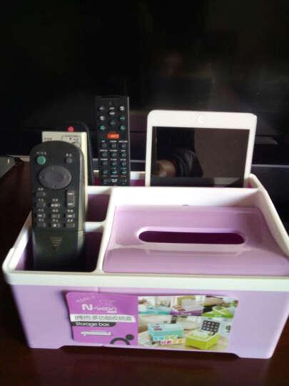 糖果色塑料遥控器收纳盒 家居办公用品钥匙手机整理纸巾盒 颜色随机 晒单图