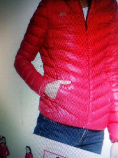 李宁女装冬季官方新款女款羽绒服女士运动上衣休闲保暖时尚外套 伏珠红 M 晒单图