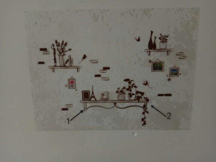 乐宅 时尚个性墙贴纸贴画 创意客厅沙发电视背景墙贴纸 走廊玄关装饰贴画 H款DLX0304C错落置物架X2-6-1 特大号 晒单图