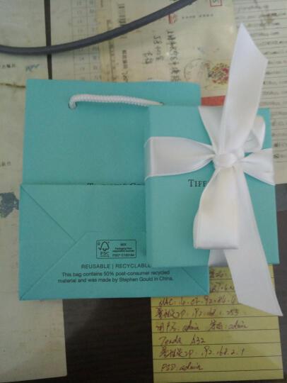 蒂芙尼(Tiffany & Co.) 925银镶双心形珐琅蓝心粉心爱心吊坠项链节日情人节 现货速发 22309307 银色 晒单图