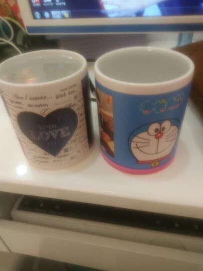 益好 生日礼物情侣变色杯子马克水杯 照片定制创意礼品送男女友朋友情人节礼物 红色哑光心形把 变色杯 晒单图