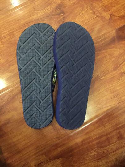 路拉迪 人字拖女士防滑夹拖坡跟凉拖鞋中跟沙滩拖鞋 黑色 38/39 晒单图