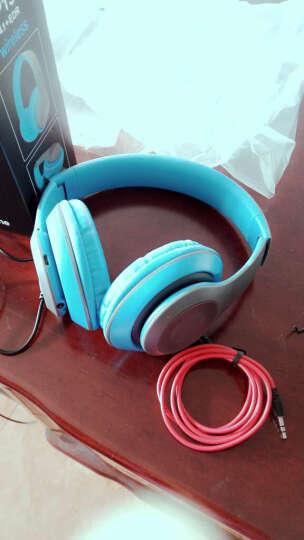mate苹果三星魅族无线蓝牙耳机头戴式 插卡重低音手机电脑电视无线音乐耳麦MP3播放器 黑蓝色-送内存卡 晒单图