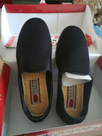 颐福元老北京布鞋男春秋休闲单鞋透气套脚大码男中老年爸爸鞋 灰色 40 晒单图